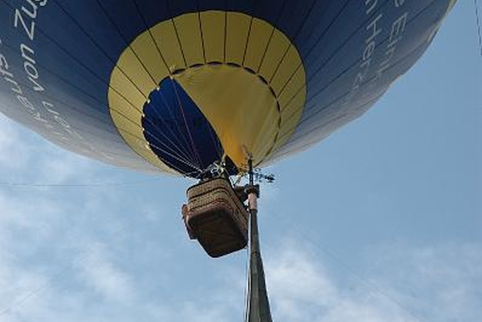 Balloon on church tower