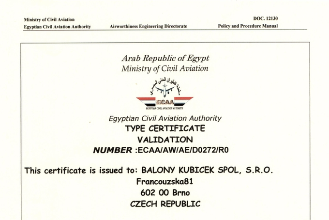 Certification in Egypt finished