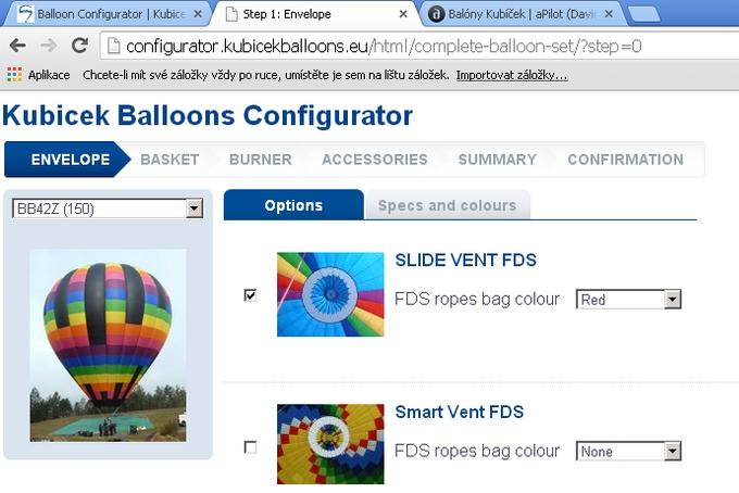 Kubicek Balloons Configurator