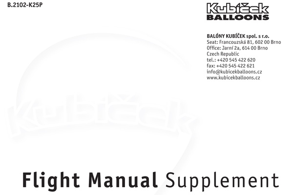 Manual Supplements