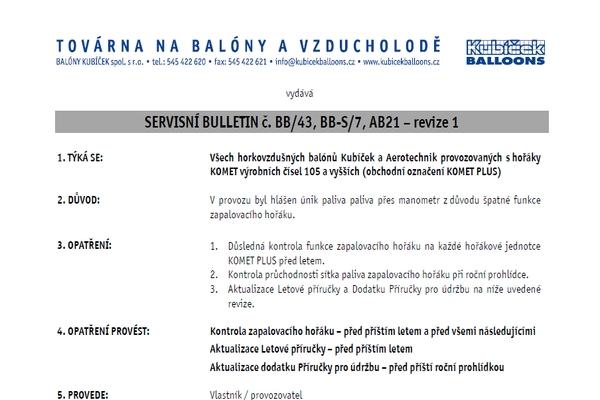 Service Bulletins